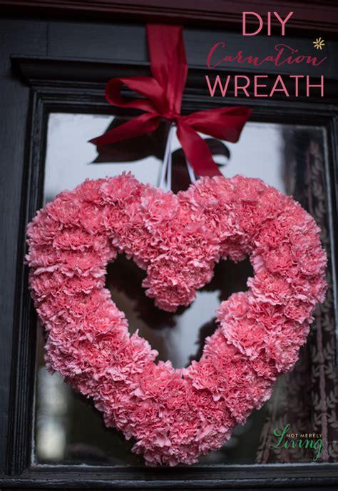 diy valentines wreath diy valentine s carnation wreath