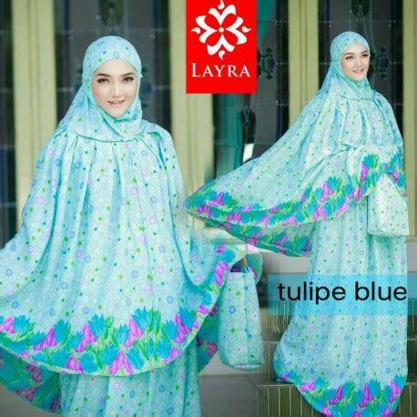 Mukena Tulip Green tulipe blue baju muslim gamis modern