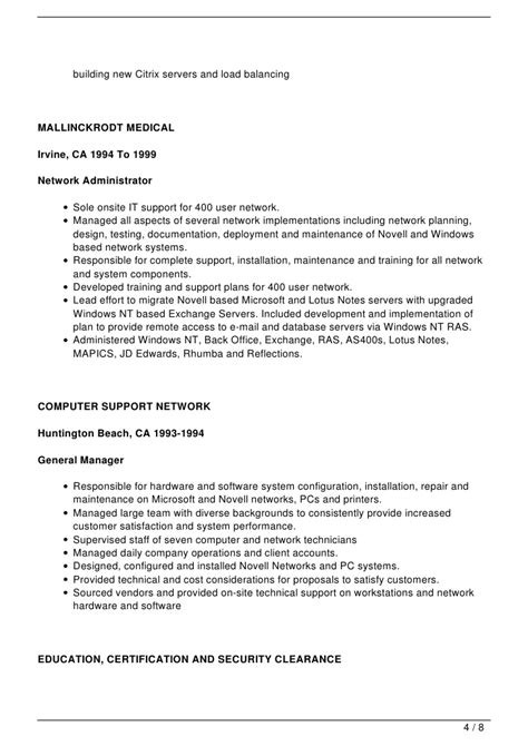 computer networking cover letter network engineer resume