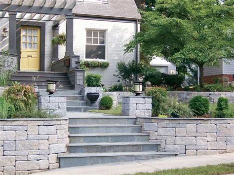 Backyard Slope Landscaping Ideas Retaining Walls Create Curb Appeal Transformation