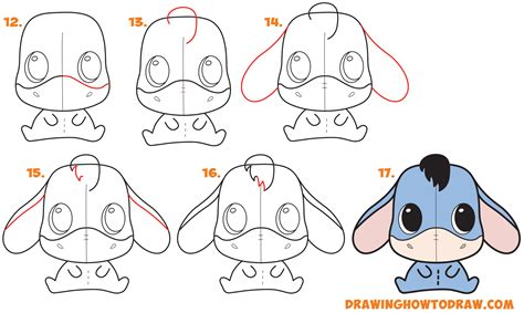 easy kids drawing lessons how to draw a cartoon house how to draw a cute chibi kawaii eeyore easy step by step