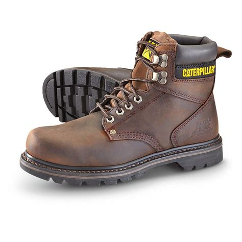 s cat 174 6 quot second shift work boots brown 236322