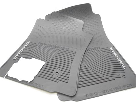 Toyota Tacoma Floor Mats 2011 by Oem 2008 2011 Toyota Tacoma Front Rubber Floor Mats Black