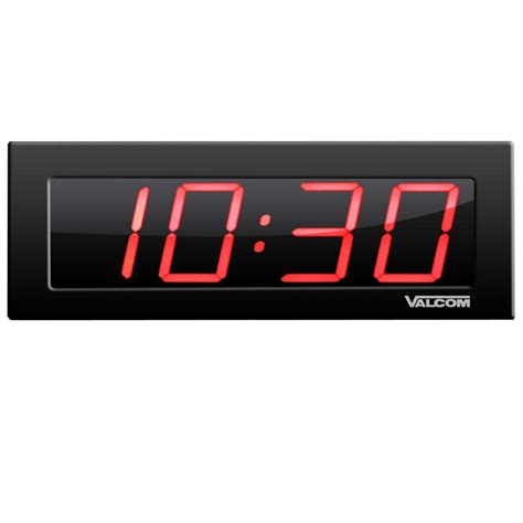 Digital Wall Clocks | valcom ip poe 4 in 4 digit digital wall clocks vc vip