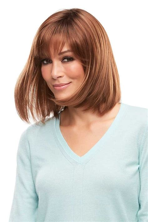 lob with bangs wigs 17 best ideas about long bob with bangs on pinterest