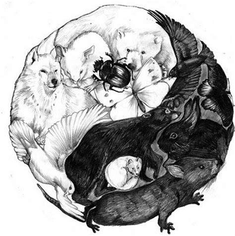 tattoo yin yang animal les 25 meilleures id 233 es concernant tatouages de yin yang