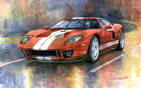 Ford gt 40 2006 painting by yuriy shevchuk