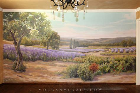 country wall murals painted wall mural lavender fields of southern country dining room san