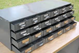 vintage industrial metal steel parts bin storage cabinet