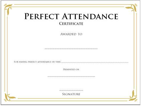free attendance certificate template stunning attendance certificate template free photos