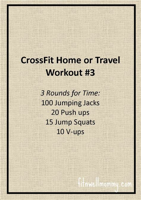 crossfit home or travel workout 3 deliciously fit