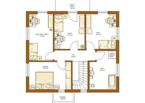 Kinderzimmer Grundriss Beispiele by Clou 157 Satteldach Rensch Haus 220 Ber 140 Jahre