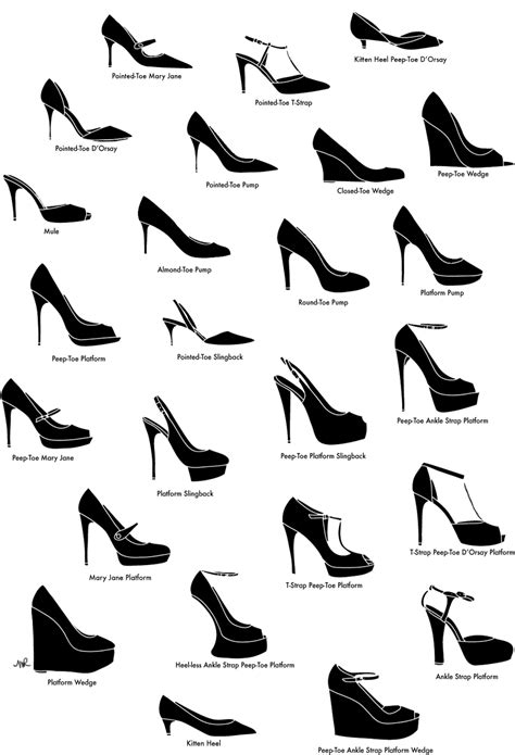 kinds of shoes for 41 insanely helpful style charts every needs right