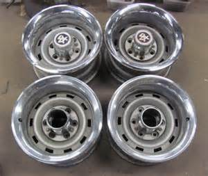 Truck Rallye Wheels Set Of 4 15x8 Chevy Truck 6 Lug Rallye Wheels With Trim