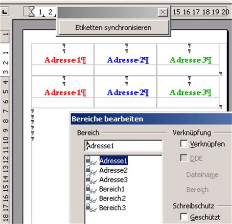 Etiketten Open Office by Etikettenassistent Archiv Des Libreoffice Und