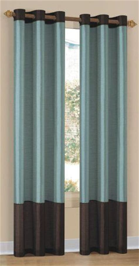 Brown And Blue Curtains Panels New 2 Set Grommet Panel Curtains Beige Chocolate 80 Inches X 84 Inches Rivers Home