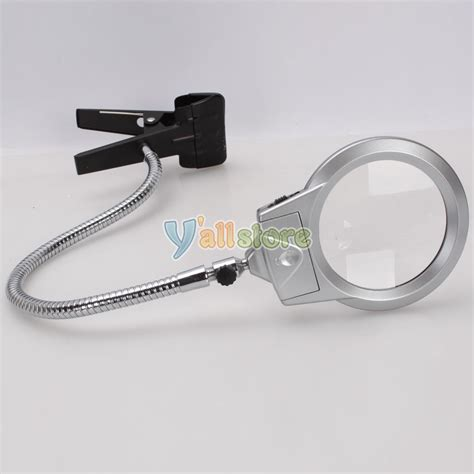Lighted Magnifying Glasses by Lighted Table Top Desk Magnifier Magnifying Glass With