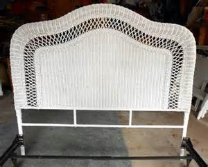 white wicker or size headboard strong frame