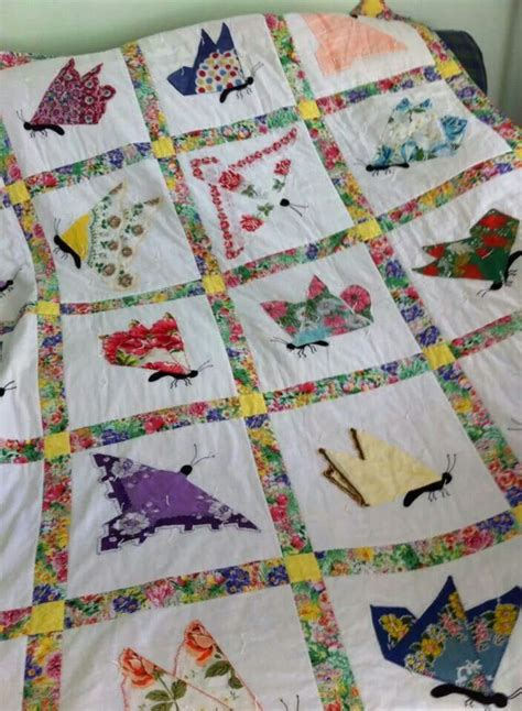Hankie Quilts by Hankie Butterfy Quilt Quilty As Charged