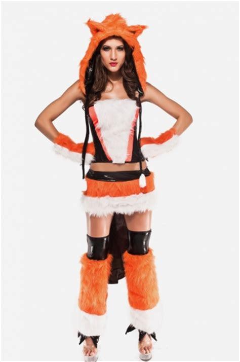 Costume Sleep Wear Import T1310 3 womens cheshire fox costume orange