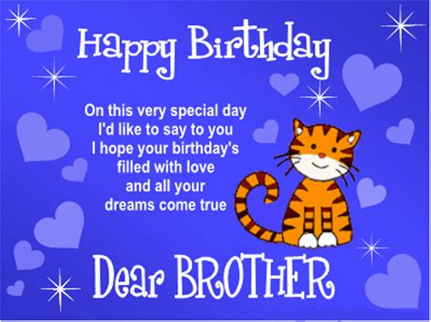 Happy Birthday Wishes For Loving Special Birthday Wishes For Brother Messages Wordings