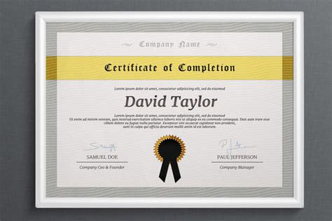 landscape certificate templates multipurpose certificate stationery templates on