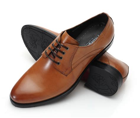 tiding mens dress casual shoes lace up oxfords brown