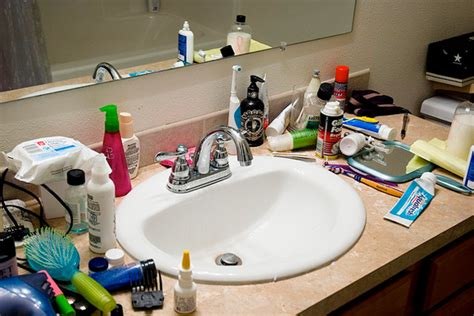 cluttered bathroom clutter bug in your home clutter free tips houselogic