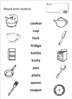 Kitchen Utensils Worksheet Pdf
