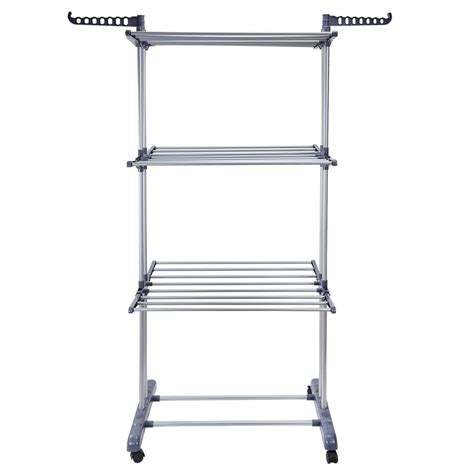 Clothes Dryer Shelf by Foldable 3 Tier Clothes Airer Laundry Dryer Rack Indoor Outdoor Rail Hanger Ebay