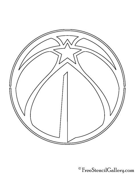 nba wizards coloring pages nba washington wizards logo stencil free stencil gallery