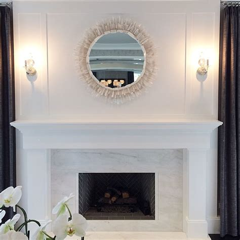 Marble For Fireplace Surround by White Marble Fireplace Surround With A Gray Herringbone