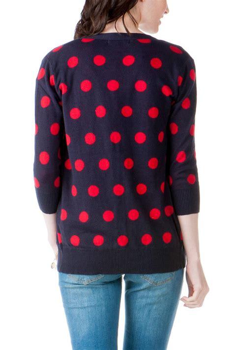 Cardi Dot And Black burlington polka dot cardi s