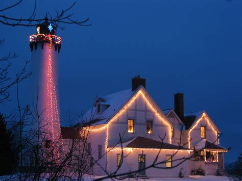 christmas is festive at point iroquois lighthouse