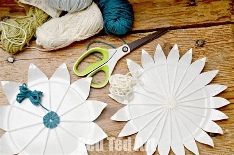 Paper Plate Weaving Craft - paper plate weaving how to ted s