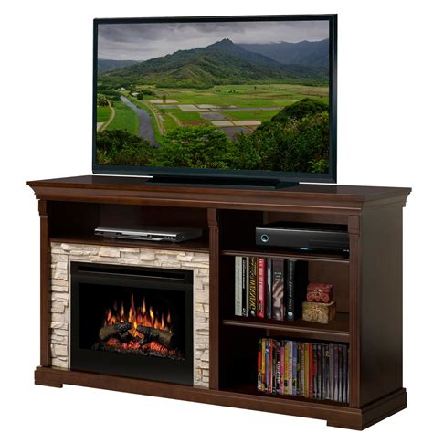 dimplex edgewood electric fireplace media console with
