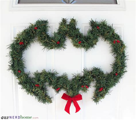 diy batman wreath and other geeky holiday decor our