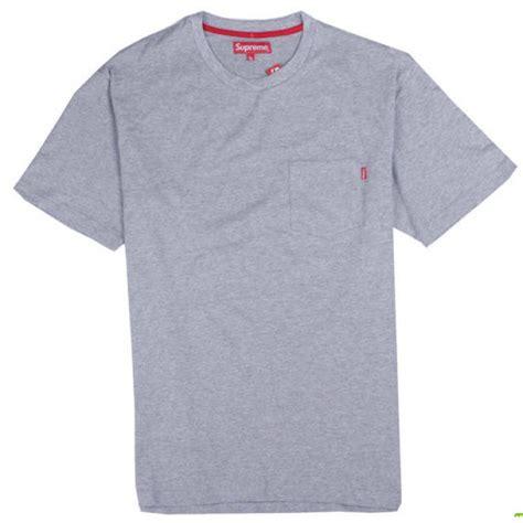 Kaos T Shirt Supreme Grey Logo Box supreme quot nyc pocket quot t shirt gray