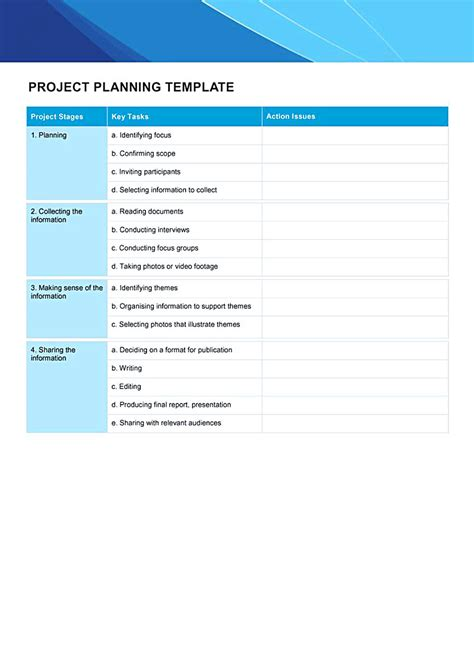 word project plan template free letters of recommendation