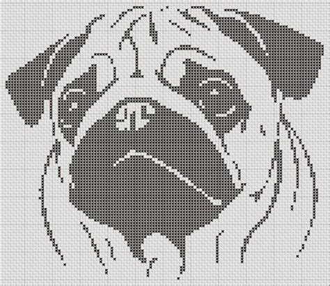 pug cross stitch pug silhouette small cross stitch pattern 1 color easy pdf pattern stitches the