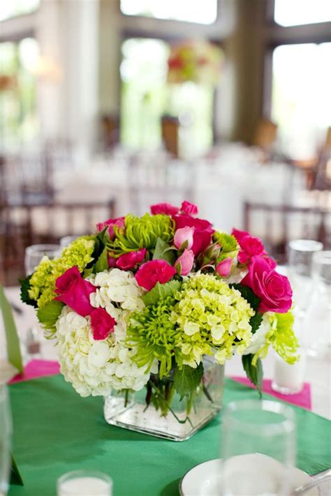 Hot Pink And Lime Green Wedding Centerpieces Bridal Lime Green Centerpieces