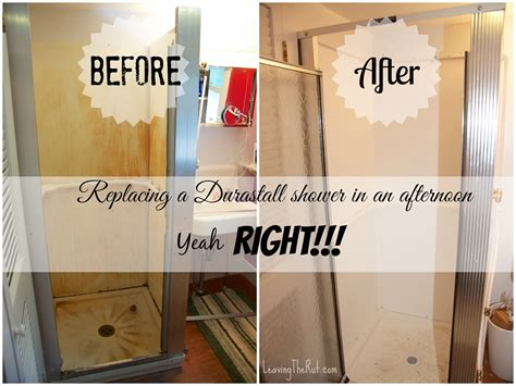 replacing a durastall shower in an afternoon