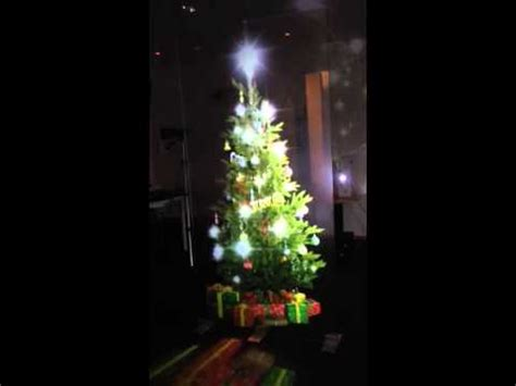 hologram christmas tree youtube