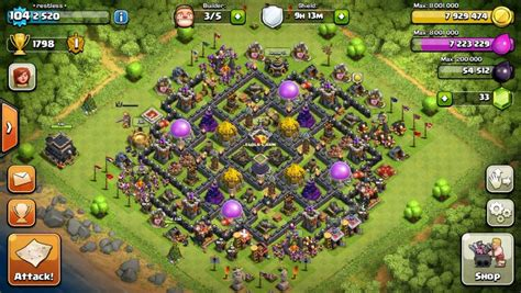 th9 home base layout best clash of clans th9 farming base attackia clash of