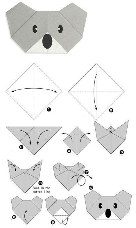 How To Make An Origami Koala - best 25 origami koala ideas on