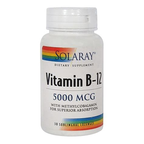 Methylcobalamin Also Search For Solaray Vitamin B 12 With Methylcobalamin 30 Lozenges