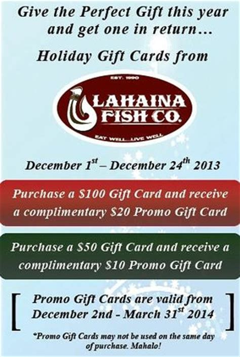 Gift A La Card Company Llc - get your gift cards now here foto di lahaina fish co lahaina tripadvisor