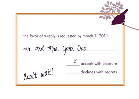 wedding invitation response card how to respond wedding invitation cards how to respond invi with wedding