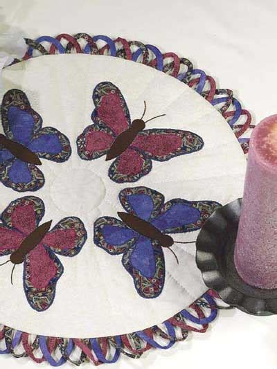 candlestick butterfly pattern butterflies lace quilted candle mat pattern