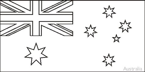 australian flag template to colour from the up free colouring book of flags